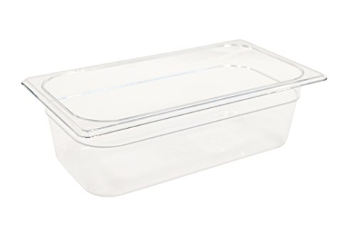 Rubbermaid Commercial Products FG117P00CLR 1/3 Size 4-Quart Cold Food Pan (Restaurant Cold Food Pan compare prices)