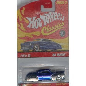 HOT Wheels 2006 19 of 30 Blue Tail Dragger Classics Series 3 1:64 Scale Die-cast Body/chassis Special Paint - 1