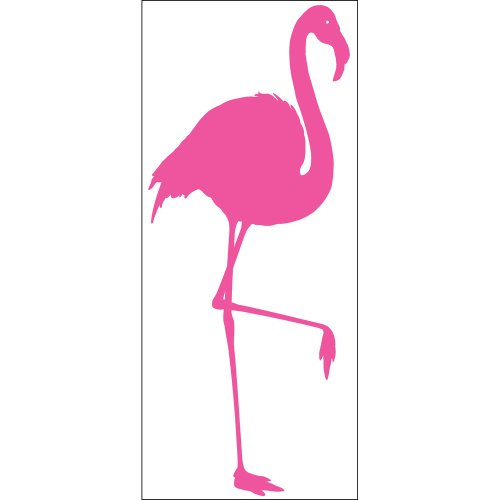 Blue Mountain Wallcoverings Snap1025 Snap Instant Wall Art, Pink Flamingo (Flamingo Decal compare prices)
