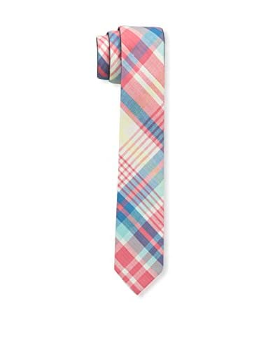 SKINNY TIE MADNESS Men's Double Dipper 2-Inch Skinny Woven Tie with Clip-Reversible, Black/Blue