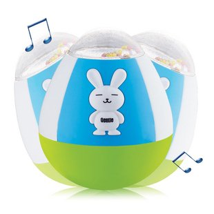 Big Dragonfly High Quality Children'S Educational Toys Fun Rabbit Shape Roly-Poly With Beautiful Music For Baby Box Package Free Shipping Green / Blue