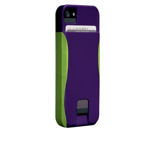 Case-Mate 日本正規品 iPhone5 POP! ID Case, ヴァイオレット/シャトルーズグリーン 【カードホルダーつき ハイブリッド・ハードケース】 CM022418