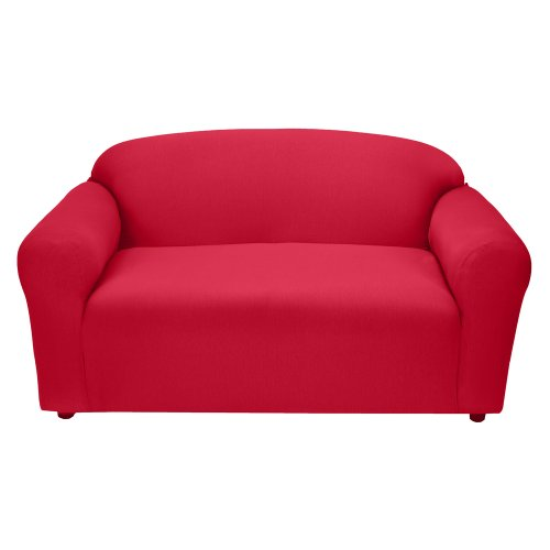 Jersey Loveseat Slipcover - Red