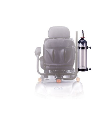Drive Medical Power Mobility Scooter Oxygen Cylinder Caddy, Black,