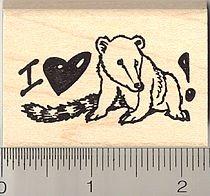 I love my Coatimundi Rubber Stamp