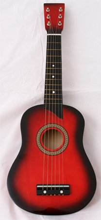 Kid's Acoustic Toy Guitar with Carrying Bag and Accessories - Red