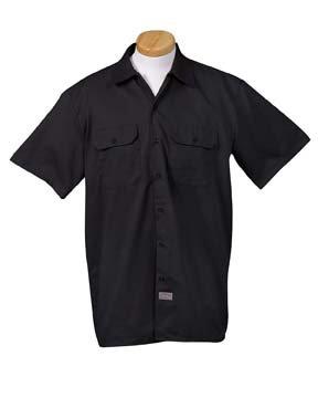 Dickies Men's 5.25 oz. Short-Sleeve Work Shirt, Black, S