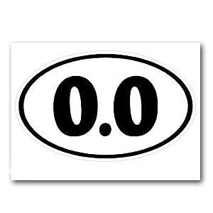 0.0 Miles Anti Running Lazy Marathon Jogging - Window Bumper Locker Sticker
