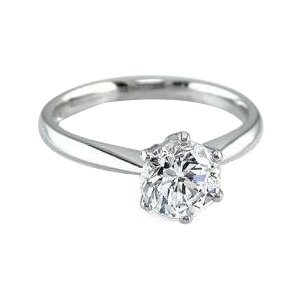 14k White Gold GIA Certified Round Cut Diamond Engagement Ring (3.06 Ct, H Color, VS2 Clarity) Free Ring Sizing