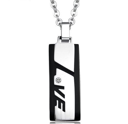 JBG Jewellery Necklace Cubic Zirconia Stainless Steel Neckwear Chain