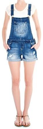 WallFlower Juniors Denim Shortalls in Ashley Size: JL