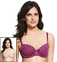 2 Pack Per Una Padded Ornate Lace B-DD Bras