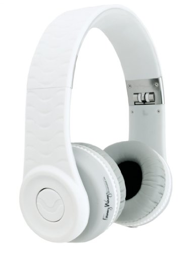 Fanny Wang 1000 Series On-Ear Wangs Luxury Headphones With Apple Integrated Remote And Mic - White (Fw-1003-Whi)