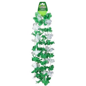 "The Boutique 42"" Saint Patrick's Day Shamrock Flower Leis, 3- SET Packs - 1"