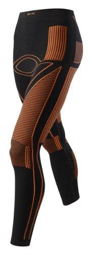 X-Bionic Lady En_Accumulator Uw Pants Long Intimo Tecnico Multisport, Donna, Nero (Black/Orange), L/XL