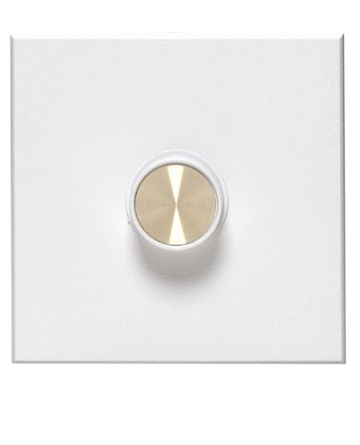 Leviton 61500-W 1500W, Single-Pole, Van Gogh Electro-Mechanical Incandescent Rotary Dimmer, Wide Fin, White