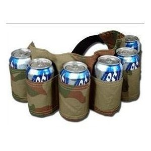 6 Pack Beer & Soda Can Holster Belt - Camoflauge (Can Holder Belt compare prices)