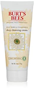 Burt's Bees Soap Bark & Chamomile Deep Cleansing Cream 6 oz (Pack of 2)