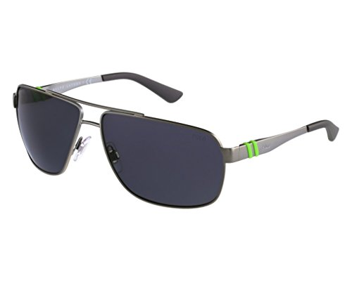 Polo PH3088 905087 Matte Gunmetal/Gray Sunglasses Bundle-2 Items