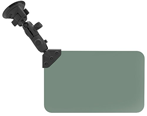 1 - RAM Mount Suction Cup Mount w/Dark Green Sun Visor - 50% Tint