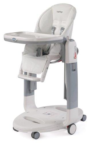 Peg-Perego Tatamia High Chair, White Latte front-40121