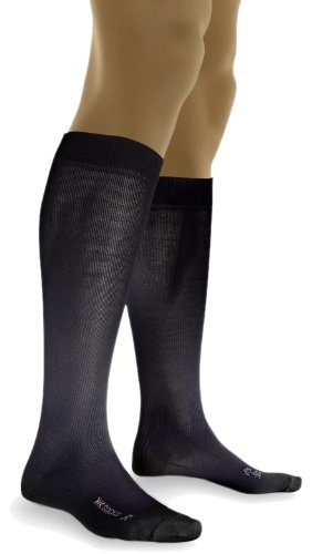X-Socks Men's Air Travel Smart Compression Sock,Black,Medium