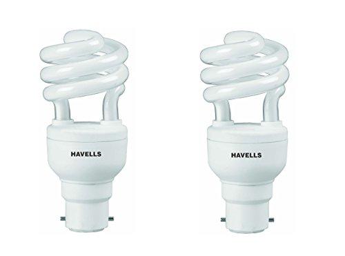 Havells T2 Spring 12-Watt CFL Bulb (Warm White, Pack of 2)