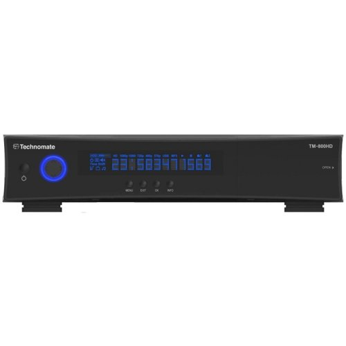 Technomate TM800 High Definition Linux Satellite Receiver, Black