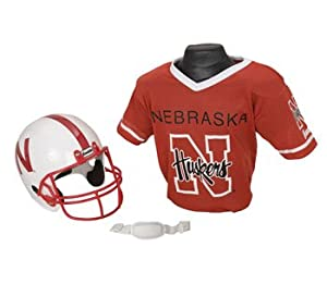 Nebraska Cornhuskers NCAA Football Helmet & Jersey Top Set