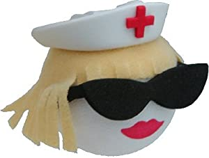 Diva Nurse Blonde Car Aerial Ball Antenna Topper - ONLY ONE P&P charge per 'AERIALBALLS' order! Save money by buying 2 or more of our many designs.