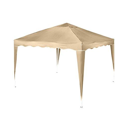Pavillon Aluminium-Faltpavillon Stella inklusiv 0 Seitenteilen, beige