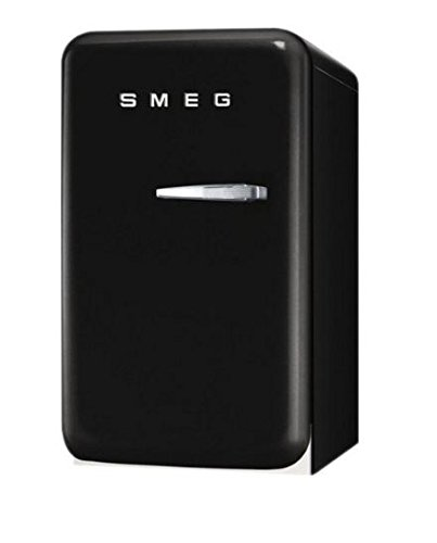 Smeg FAB5ULNE 50's Retro Style Aesthetic Mini Refrigerator with Left Hinge, Black (Mini Smeg Fridge compare prices)