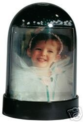 Vertical Photo Snow Globe (Black)