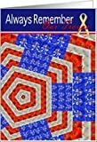 Memorial Day Remember Our Troops~ yellow ribbon, Quilt like flag Kaleidoscope Card