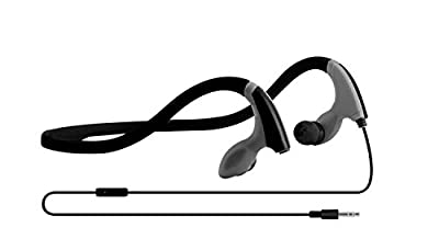 Sport Headphones - Best Sports Noise Cancelling Workout Running Wrap Around Earbuds Headphones - Black