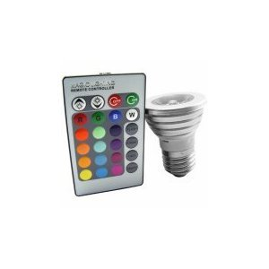 Theluckleds 3Watts E27 RGB Multi Color Changing LED Light Bulb With Remote Control for party wedding