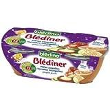 Blédina blédîner pâtes coquilles tomates courgettes gruyère fondu 2x200g dès 12 mois