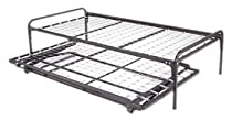 Hot Sale Twin Size Dark Brown Metal Day Bed (Daybed) Frame & Pop Up Trundle