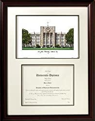 St. John's University Graduate Framed Lithograph w/ Diploma Opening