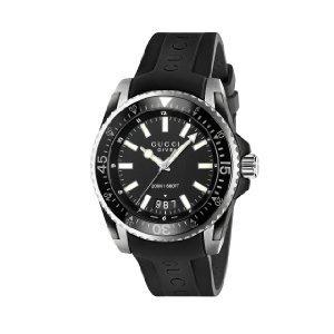 Reloj hombre R.GUCCI DIVE XL NEG.AC Y PVD CAUCHO YA136204