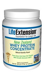 Life Extension New Zealand Whey Protein, Natural Vanilla, 520 Gram