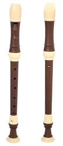 ts-ideen Baroque Alto Recorder 3-Part Including Case and Accessories Wooden-Effect Plastic