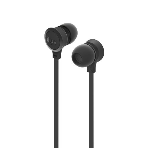 Iluv Iep334Blk Neon Sound High-Performance Earphones, Black