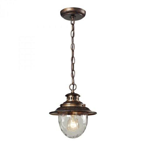 One Light Regal Bronze Hanging Lantern one light frosted glass antique rust hanging lantern