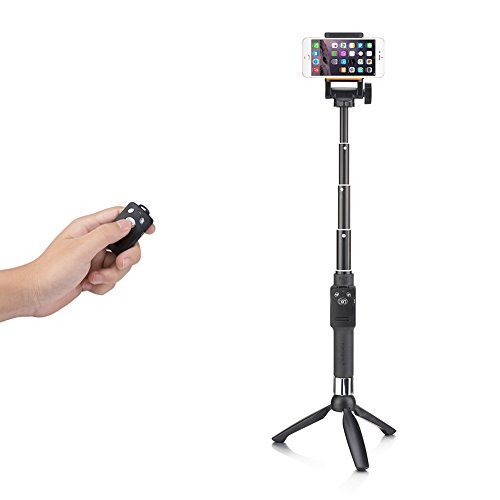 Accmor Tabletop Selfie Stick with Bluetooth Remote & Tripod Stand for iPhone 6S Plus 6S 6 Plus 6 5S Android Samsung Galaxy S6 S5 Note 4 3