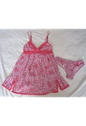 Victoria's Secret Cami Sleep Sets Red Lace Hearts Print X-Small