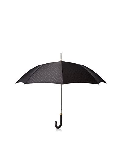 Alexander McQueen Men's Rain Umbrella, Black/Brown