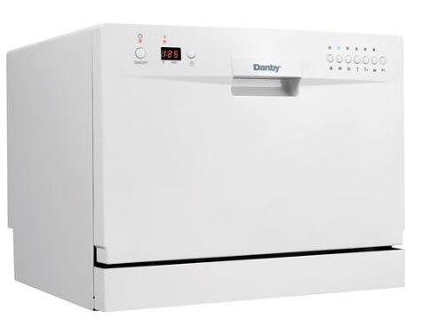 Danby Countertop Dishwasher Faucet Adapter : Danby Ddw611wled Countertop Dishwasher - White [Major Appliances]