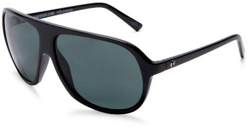 Electric Hoodlum Polarized Sunglasses,Gloss Black Frame/Grey Polarized Lens,one size