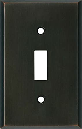 OIL RUBBED BRONZE Switchplates Outlet Covers, Rocker, GFCI 1 Toggle